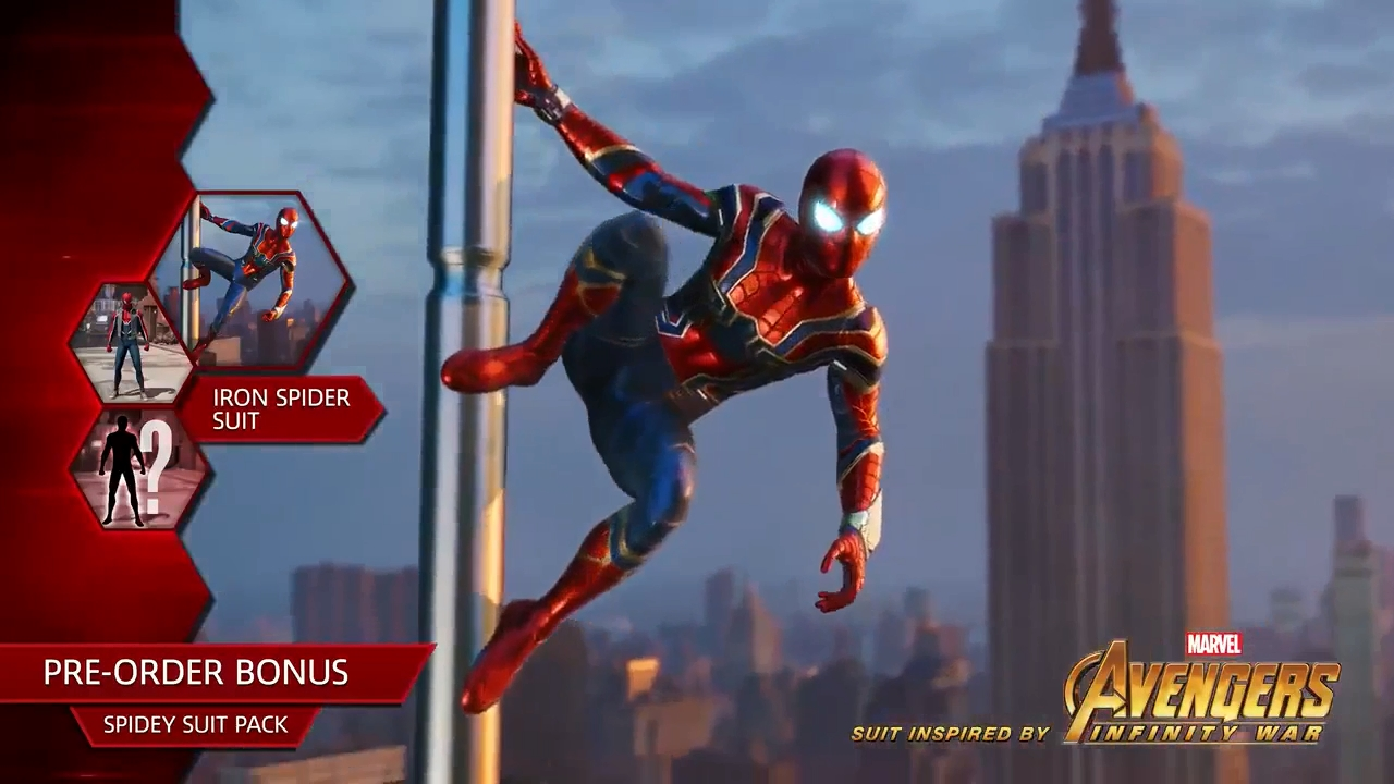 Spider-man PS4 Iron Spider Suit on Pre-Order